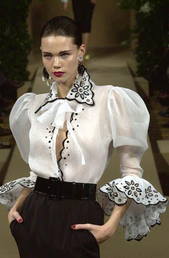 YSL: Laurent High, Yves Saint Laurent, Fashion Details, Style, White Fashion, Dress, Black, Haute Couture