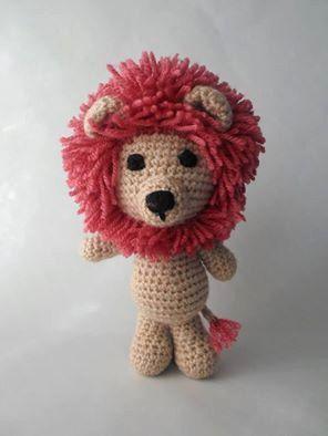 Lion Amigurumi Crochet Stuffed Toy Animal