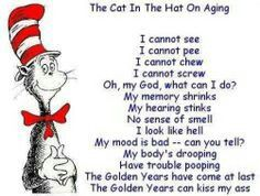 Aging cat in the hat