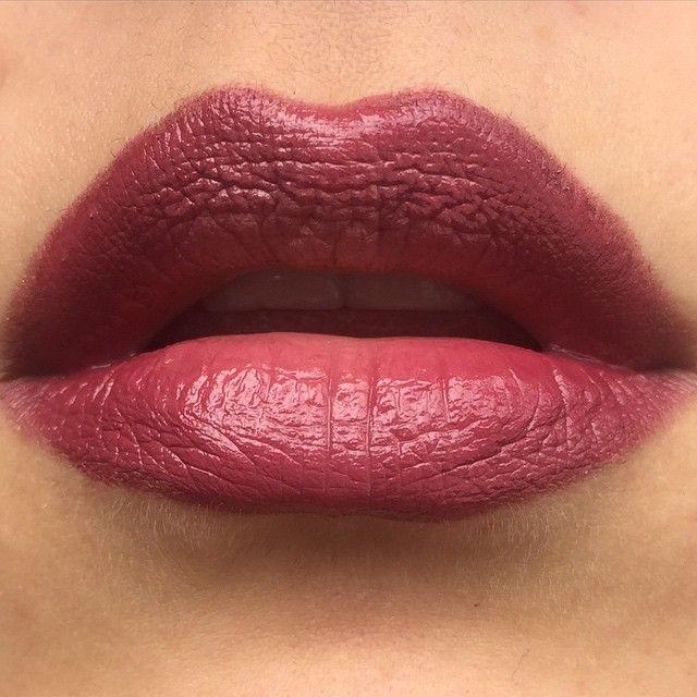 Mac half red lip liner plus diva on top of modesty - Mac diva lipstick price ...