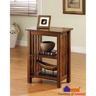 Furniture Of America U0027Valentinu0027 Antique Oak Mission Style End Table  (Antique Oak), Brown
