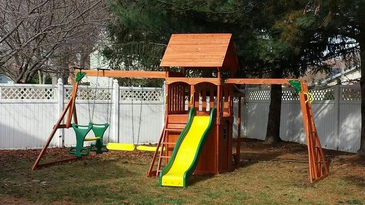 backyard discovery saratoga playset from walmart installed in sewell