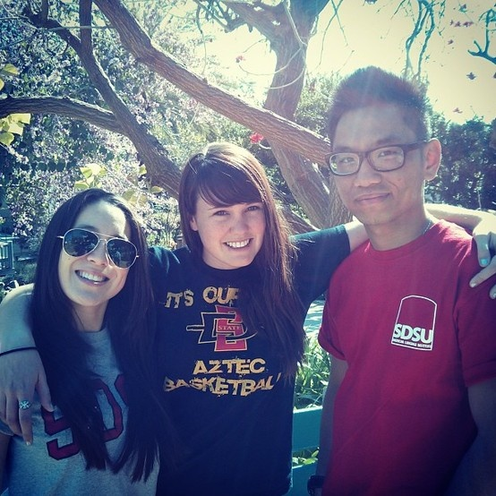 ALI student ambassadors on a sunny day at school! @San Diego State University, American Language Institute #sdsu #socialmediateam #sunnysandiego