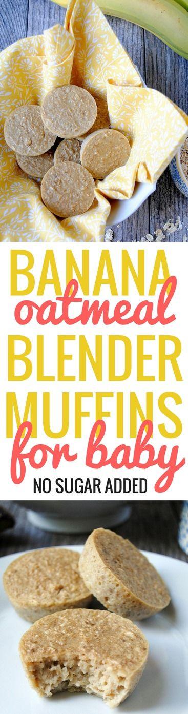 Banana Oatmeal Blender Muffins for Baby | PB Fingers