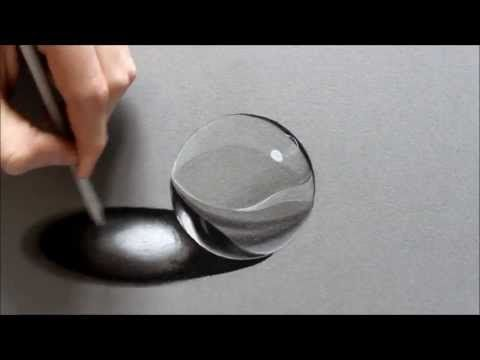 #1 Drawing a realistic Crystal Ball - YouTube