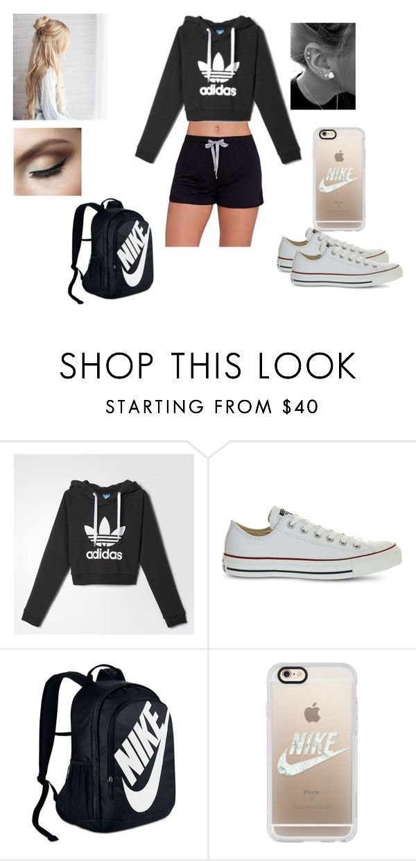 """Untitled #13"" by ivonnevasquez on Polyvore featuring Calvin Klein, adidas, Converse, NIKE and Casetify"