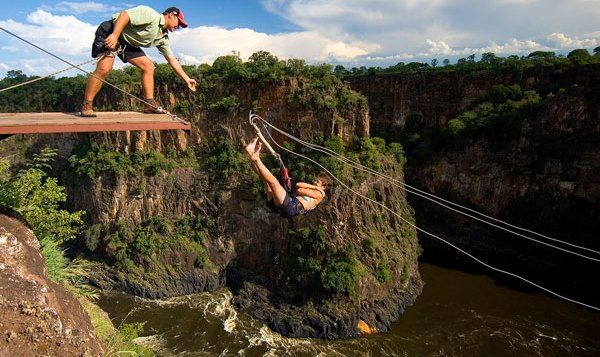Feel the adrenaline rush as you free fall for 80 meters and swing across the gorge in a pendulum motion, whilst feeling the spray and hearing the sound of the mighty Victoria Falls rumbling by your side.