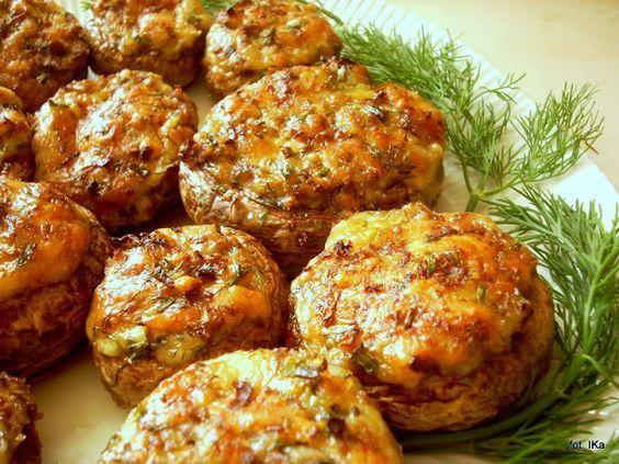 Smaczna Pyza sprawdzone przepisy kulinarne: Pieczarki faszerowane