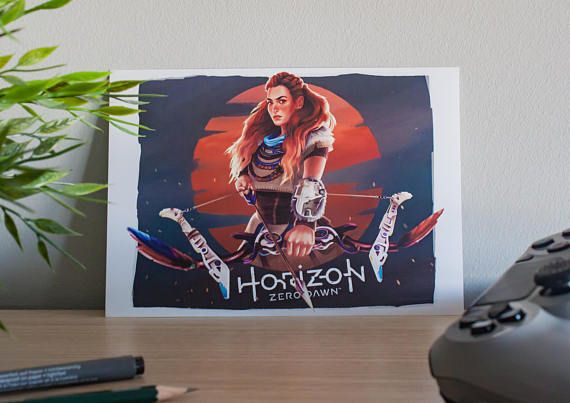 Aloy Horizon Zero Dawn  Art Print A5/A3  Videogame Art