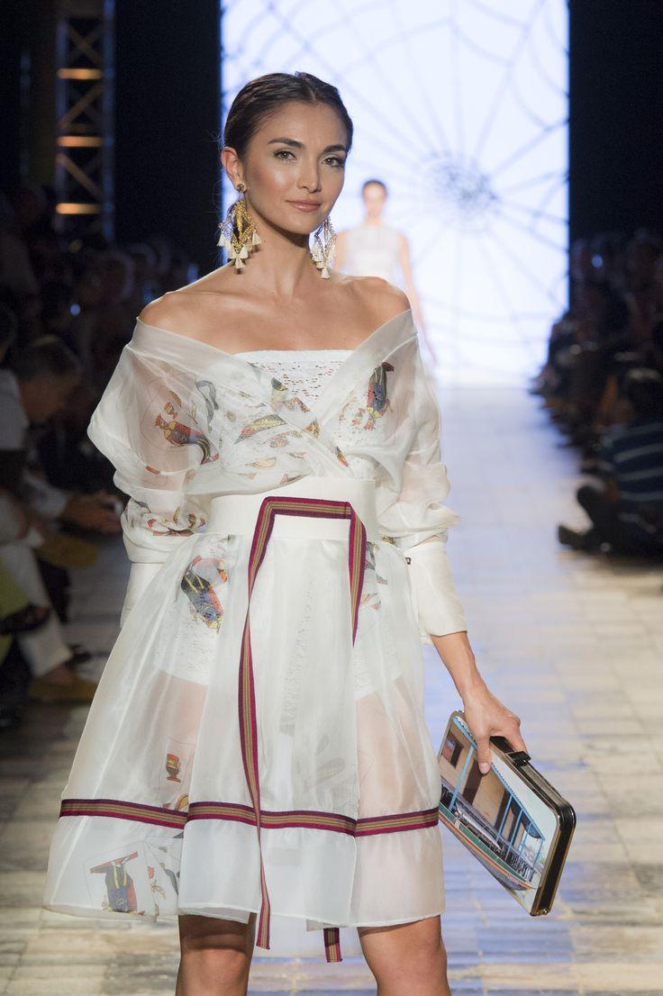 Silvia Tcherassi SS2017 Off the shoulder ethereal summer dress