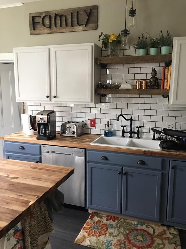 #kitchengoals Note: Blue is Behr ultra premium-forever ...