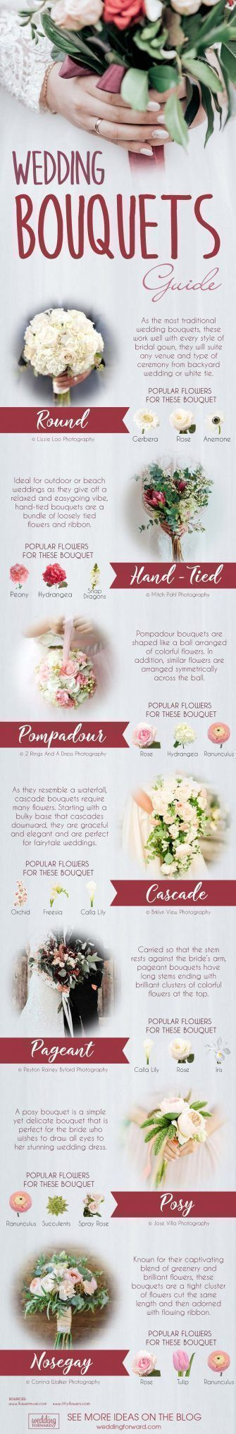 8 Wedding Flowers Infographics That Will Help You ❤ wedding flowers infographics wedding bouquets guide ❤ See more: http://www.weddingforward.com/wedding-flowers-infographics/ #weddingforward #wedding #bride #weddinginfographic