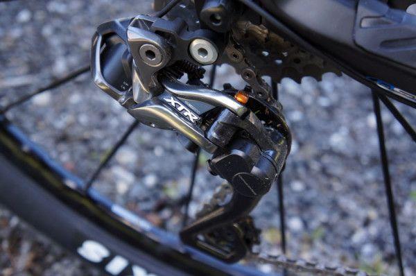 Shimano XTR Di2 9000 electronic mountain bike derailleur.