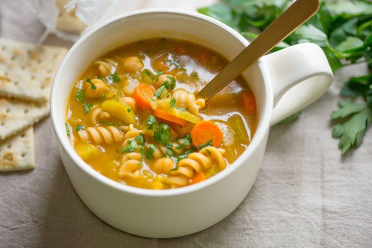 Recipe: Vegan Chickpea Noodle Soup — Hearty Vegan Recipes