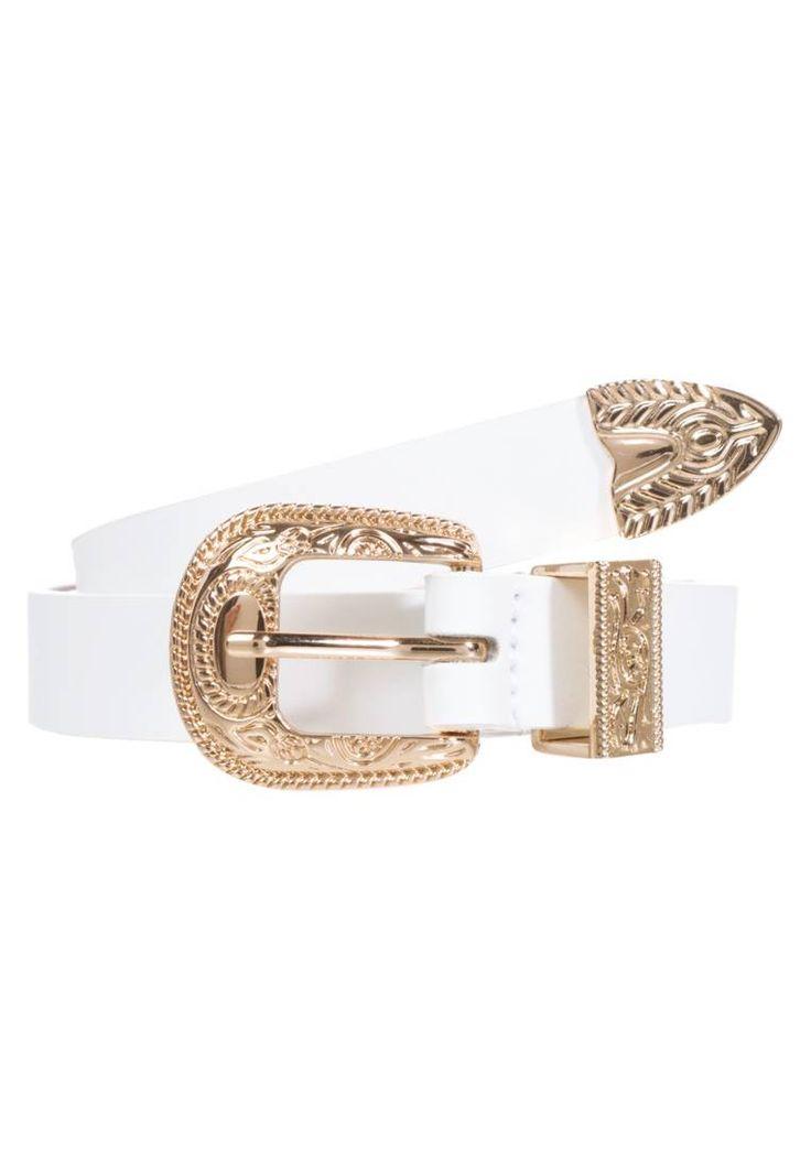 Ivyrevel. BOO - Cintura - white. #cintura #cinture #vitaalta #zalandoIT #fashion Composizione:100% Poliuretano. Materiale:fintapelle. Lunghezza:66 cm nella taglia XS/S. Chiusura:Fibbia. Altezza del modello:La persona nella foto è alta 176 cm e veste una taglia XS/S. Larghezza:1...