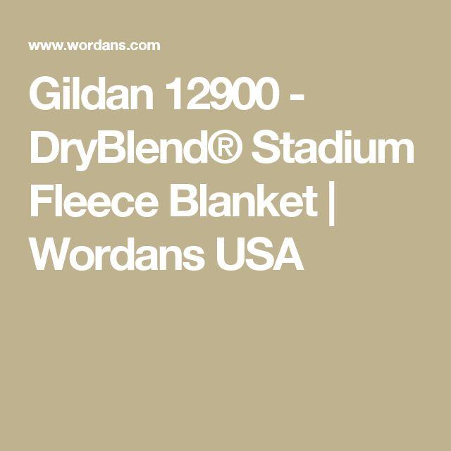 Gildan 12900 - DryBlend® Stadium Fleece Blanket | Wordans USA