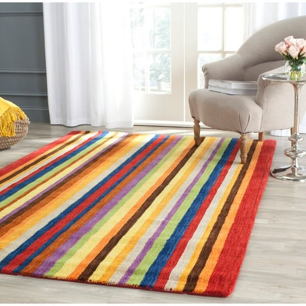 Hand Loomed Safavieh Himalayan Gabeh Stripe Wool Rug X Ping Great Deals On Rugs
