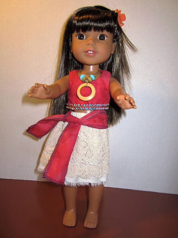 """Debs RED Party Dress Doll Clothes For American Girl 14/"""" Wellie Wisher Wishers"""