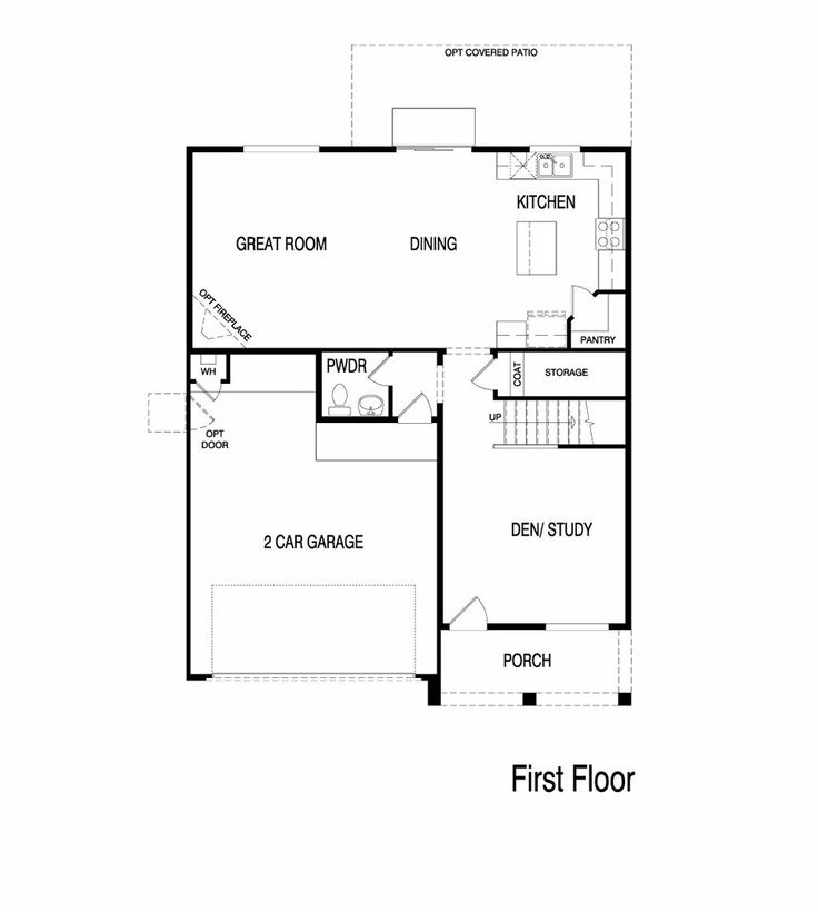 Pulte Homes Shale Floor Plan Via