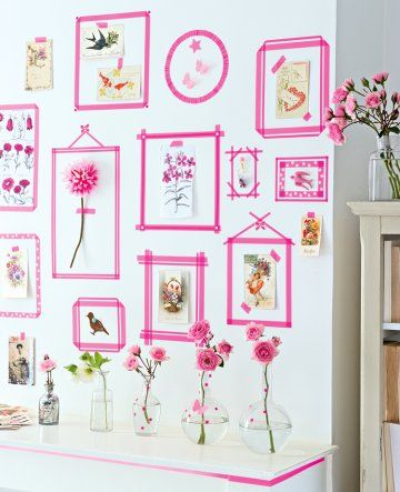 best 25 washi tape wall ideas on pinterest. Black Bedroom Furniture Sets. Home Design Ideas