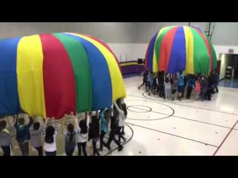 5th grade Star Wars Parachute - YouTube