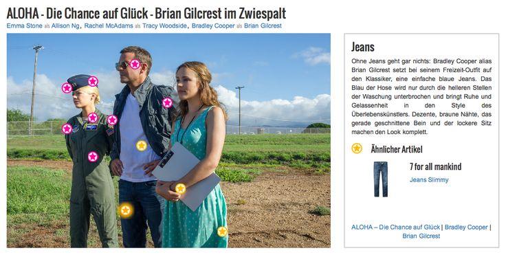 Ohne Jeans geht gar nichts: Bradley Cooper alias Brian Gilcrest setzt bei seinem Freizeit-Outfit auf den Klassiker, eine einfache blaue Jeans. Das Blau der Hose wird nur durch die helleren Stellen der Waschung unterbrochen und bringt Ruhe und Gelassenheit in den Style des Überlebenskünstlers. Dezente, braune Nähte, das gerade geschnittene Bein und der lockere Sitz machen den Look komplett.
