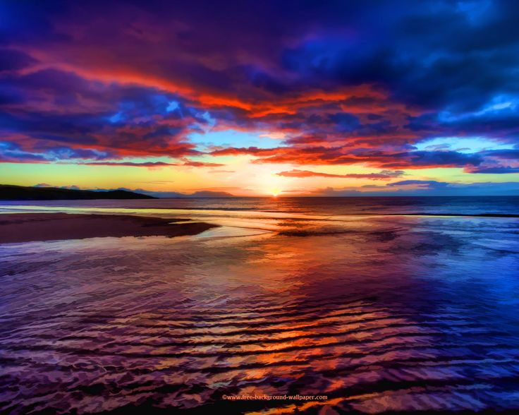beach sunset pictures | Sunset Beach Scotland - Beautiful ...