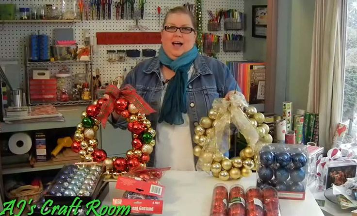 Here's How to Make Your Own Easy and Cheap Christmas Ornament Wreath - awesome, Cheap, Christmas Ornament, DIY, Easy, Make Your Own, Videos, Wreath