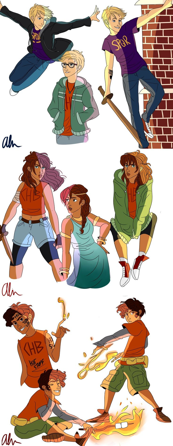 Jason Grace, Piper McLean & Leo Valdez | art by chubunu (Artwork)