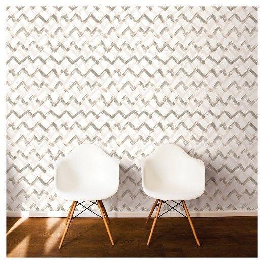 Devine color painted chevron wallpaper elledecor com