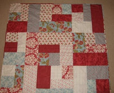 Great stashbuster tutorial.  I have made a couple of baby quilts with this one.