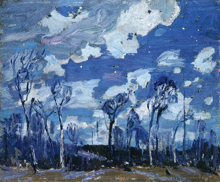 lawrenceleemagnuson: Tom Thompson (Canada 1877-1917) Nocturne: The Birches (1916) oil on wood panel 21.6 x 26.8 cm National Gallery of Canada. Ottawa