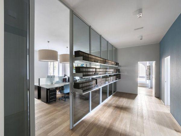 Luconi - Parete divisoria in vetro e alluminio Arredo Design ...