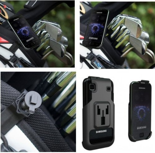 Buybits Golf Bag Clip Mount  Dedicated Cradle for the Samsung Galaxy i9000 Mobile / Smart Phone