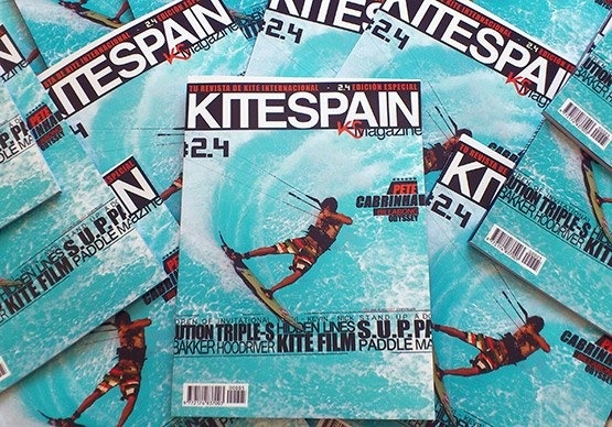 Julien Fillion on the cover of Kitespain Magazine.