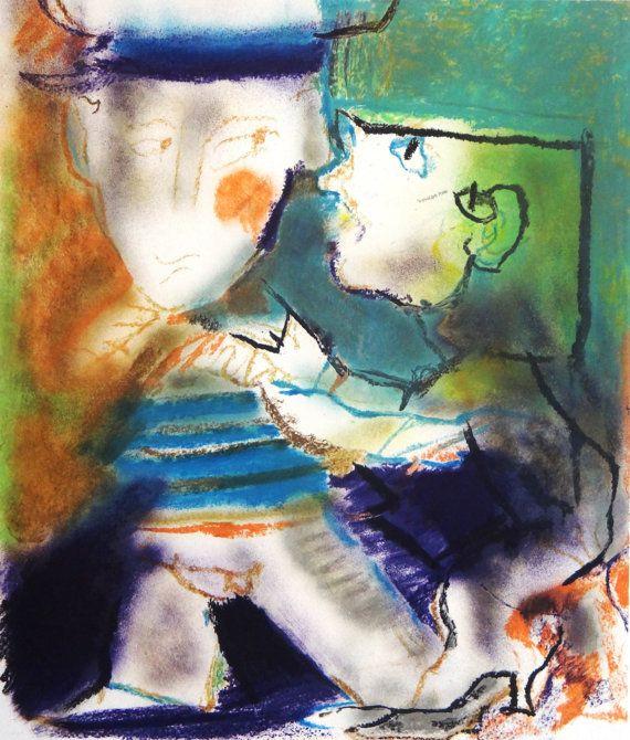 Julio POMAR gran pintor portugués pareja por MarieArtCollection