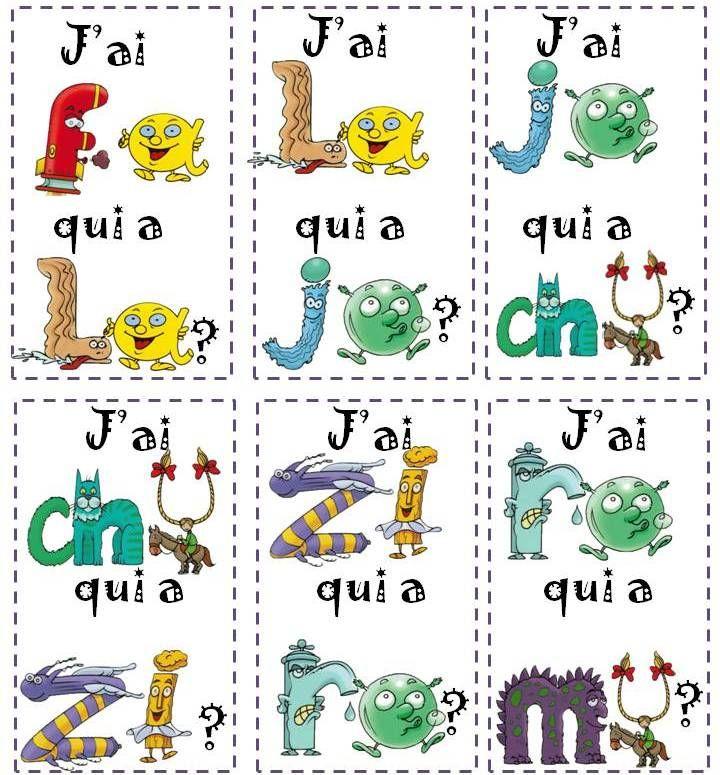 """Jeu """"j'ai, qui a?"""" avec les syllabes simples et les Alphas. - En classe Pascale !"""