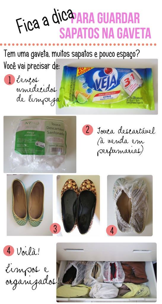 Como organizar sapatos nas gavetas (via So Shopaholic)