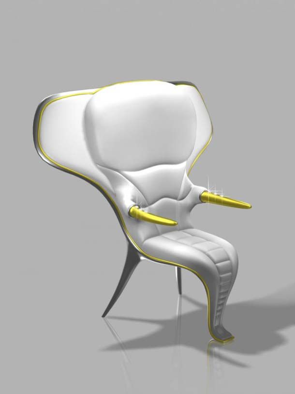 Wild Design's Exotic Chairs Concept with Elephant Shape
