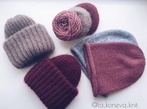 WEBSTA @ ta_koneva_knit - Доброе утропока малышки не разъехались успела устроить им тусу_______________Мохеровые шапочки 3.000₽ Шапочки бини удлиненные 1.200₽