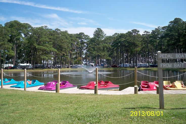 Pedal Boats Are Free To Use By Campers At Cherrystone Campgrounds In Virginia Virginia