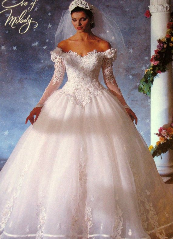 White and Gold Wedding. Sweetheart Corset Ballgown Dress. Eve of ...