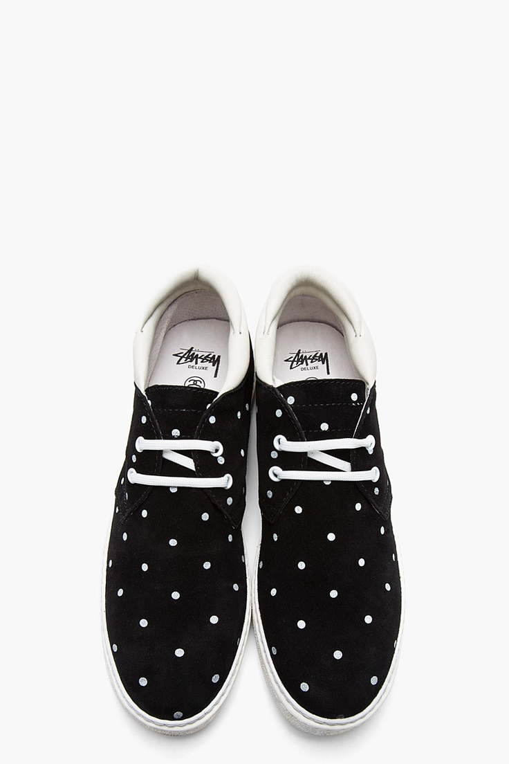 My shoes STUSSY DELUXE Black nubuck polka dot sneakers Aviator sunglasses  via Marc by Marc Jacobs