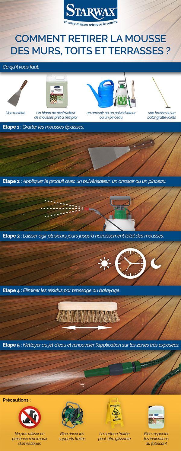 comment enlever la mousse sur un mur un toit ou une. Black Bedroom Furniture Sets. Home Design Ideas