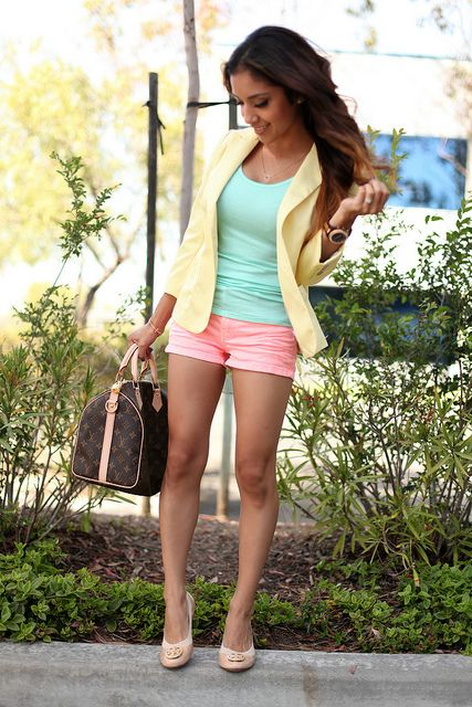 I like these pastels in an outfit combo.