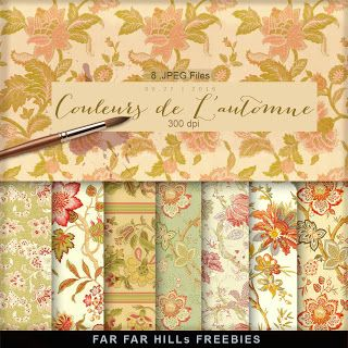 FREE Papers New Freebies Papers Kit - Couleurs de L'automne:Far Far Hill - Free database of digital illustrations and papers