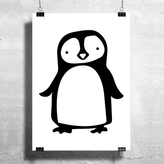 Αφίσα με πιγκουίνο. Μοντέρνα εικονογράφηση που ταιριάζει αρμονικά τόσο για κορίτσι όσο και για αγόρι!#paidikesafises #postersforkids #πιγκουίνος #pinguin