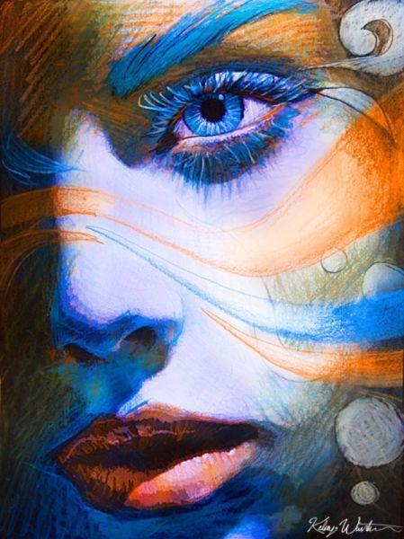 blue, orange and grey