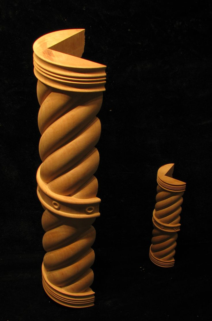 Small Wooden Column : Images about carved ropes twists and spirals on
