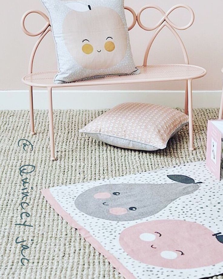 Peaches & Pears junior range #chair #throws #cushions #junior #peaches #pears #pink #homedecor #quinceyjac